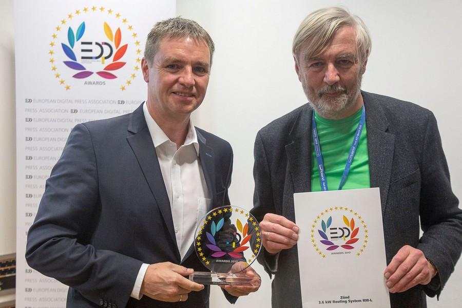 Новата рутерна система RM-L на Zund спечели награда от EDP