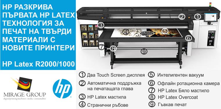 Серията принтери HP Latex R  Преобразувайте печата на твърди медии по начин, който никога не сте смятали за възможен