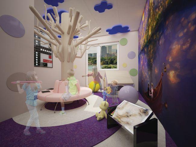 Интериорен проект за конкурса Малки герои на МБАЛ Пирогов залага на материали от Мираж Груп