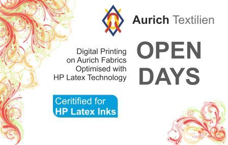 The new Aurich media offers for textile printing with HP latex technology